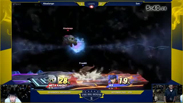Metaknight is so much fun to watch in Smash 4.