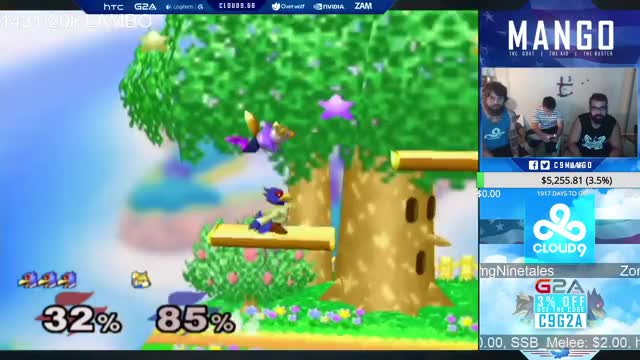 Mango with a triple dip to finish the match