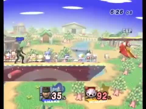 MVD baits opponent to run into Snake's down smash (x-post from /r/SmashBros)