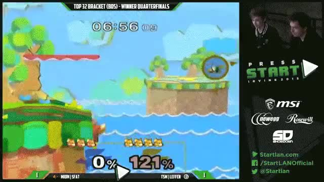 Leffen with the sick shield play