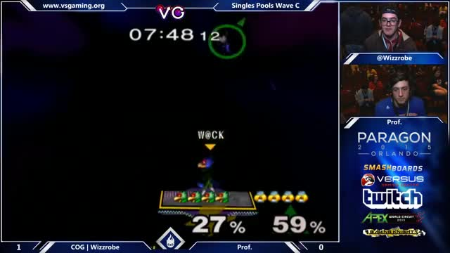 Sheik double Up-B stage spike on Falco
