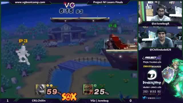 Junebug platform shenanigans on Smashville (Squabbles Smash 5)