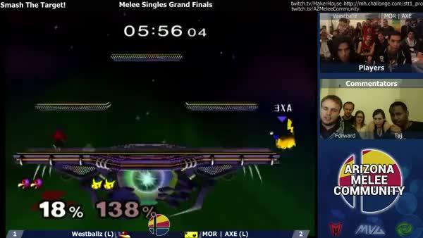 Axe epic turn-around on Westballz @ Smash The Target!