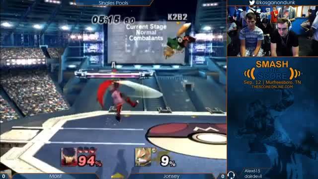 Dash attack to wall jump edgeguard