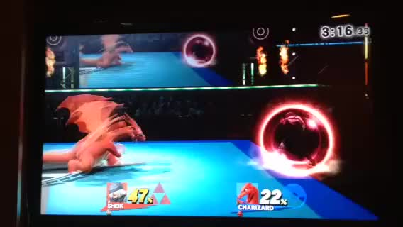 I found out that you can use the ledge to cancel the end lag for Sheik's grenade (kind of like Puff's sing ledge cancel). I was wondering if this would be useful at all (sorry for iphone quality).