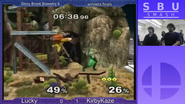 KirbyKaze combos Lucky around pokemon stadium.
