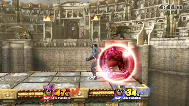 Captain Falcon 34%-death string off a Nair hit confirm