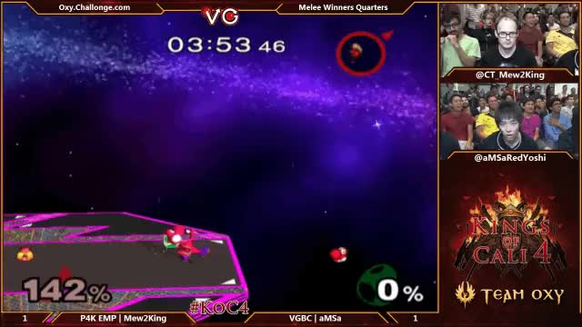 Mew2King transforms back to Sheik against aMSa at KoC4