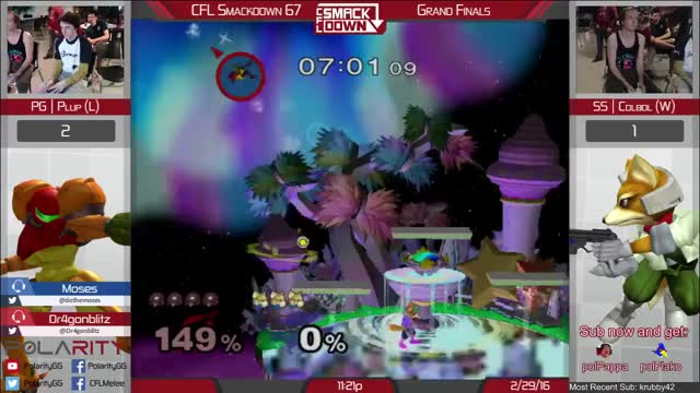 Plup reverses the edgeguard on Colbol