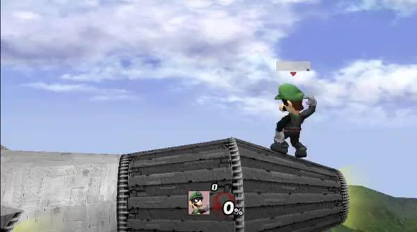 Luigi under Corneria (Both ways!)