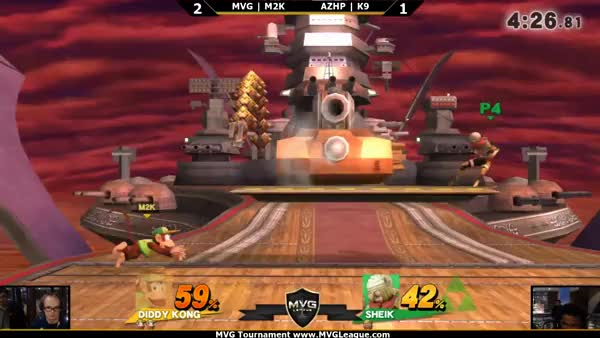 K9 using the environment to his advantage against Mew2King