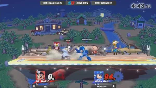 Dr.Mario huge Up-B kill hitbox