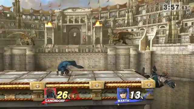 Ganondorf's aerial game is slow but great when connected.