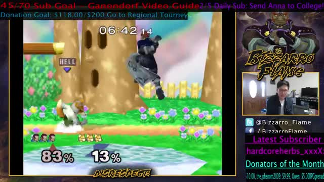 Bizzarro Flame Turns a Recovery into an Edgeguard