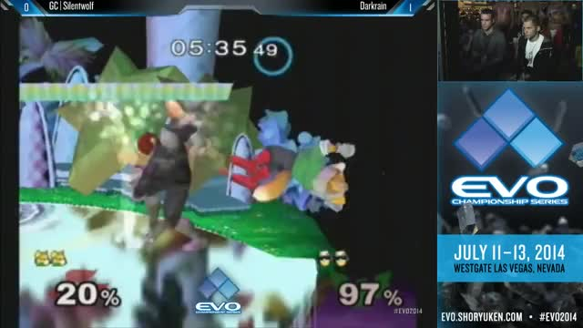 Darkrain With a Clean Reverse Edgeguard