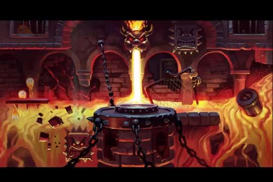 Bowser's Castle progression time lapse.