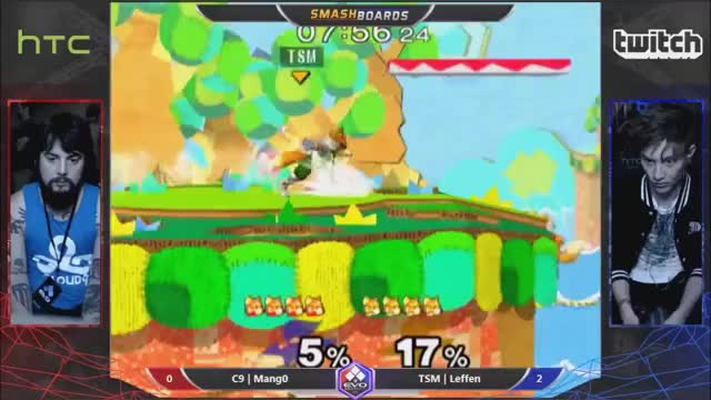 The Frantic First Stock of a 3 Game Comeback: Mang0 vs Leffen @ EVO 2015 Salty Suite