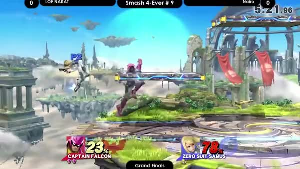 Nairo's 7 hit ZSS true combo to kill Nakat