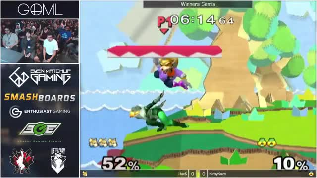 Hax takes out KirbyKaze's stock off a single shine