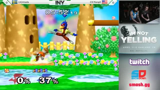 Armada flubs one edgeguard vs Mango