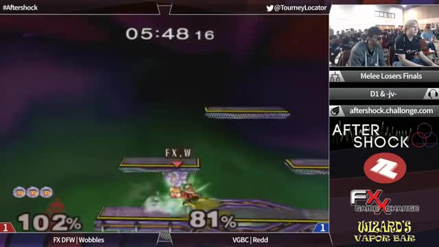 Redd with the moonwalk shine bair vs Wobbles