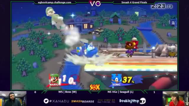 Boss' Comeback Stock on Luigi Versus Seagull's Sonic