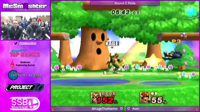 Kage lands a Falcon Punch, then follows it up.