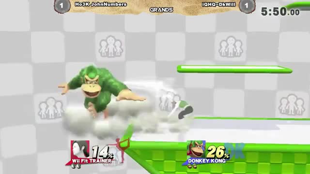 John numbers with the optimal shield break punish on DKwill