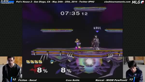 [Marth] PewPewU doesn't drop his last stock for free.
