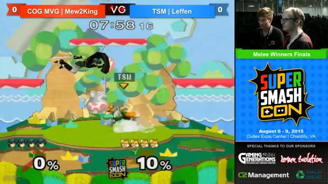 Leffen starts the set cleanly vs M2k