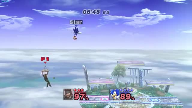 Edgeguarding exchange: Snake and Sonic style! [x-post from /r/SSBPM]