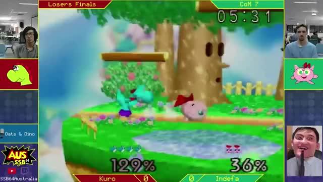 Ridiculous DI to survive Yoshi's fair spike