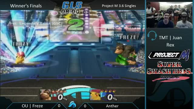 Freze expands dong on Anther in the first 10 seconds.