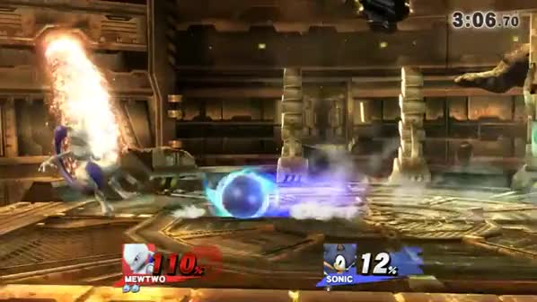 A fun Mewtwo vs. Sonic sequence