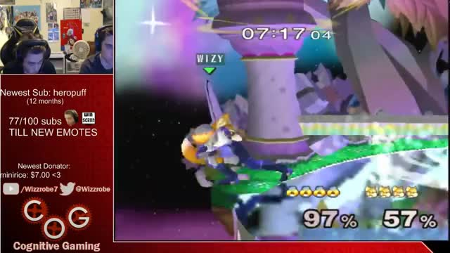 Plup gets some good mileage simply by pressing R slightly less hard – Wizzrobe's Stream