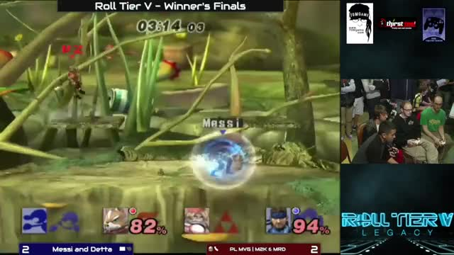 Messi from Colorado makes a two stock comeback on Mew2King at Roll Tier V: Legacy