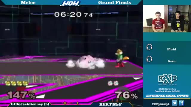 [Gfy] Double boost run to buffered turnaround ledgegrab with Fox