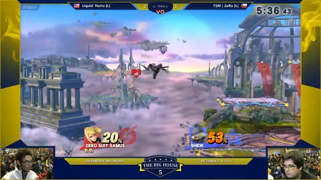 Nairo 2-Frame Punish Against ZeRo at TBH5 G. Finals