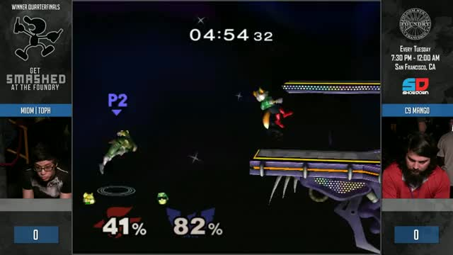 Mango reverses an edgeguard situation on Toph.
