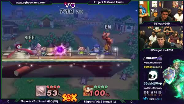 Smash G0D's snappy edgeguard on Seagull's diddy – S@X weekly Grand finals