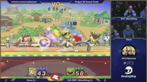Neon double dips vs M2K in GF of LTC2