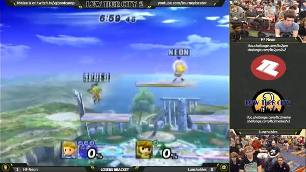 Lunchables going ham on Neon at Low Tier City 2