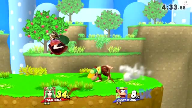 Diddy Has Now Been Purified (Palutena Combo)