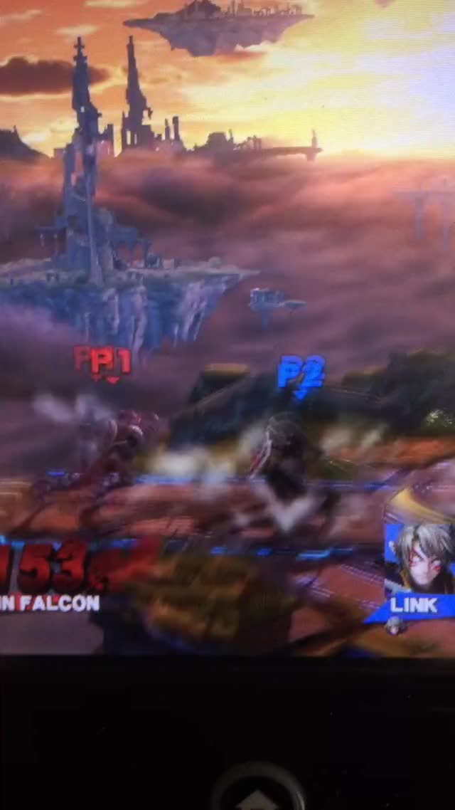 Captain Falcon Weak Knee to Strong Knee in SMASH 4! this aint melee