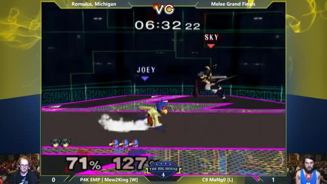 M2K with the OoS Fair, shieldbreaker into a double Bair off-stage on Mango's falco