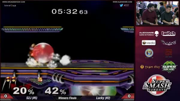 S2J turns it around and gives Lucky the death hug