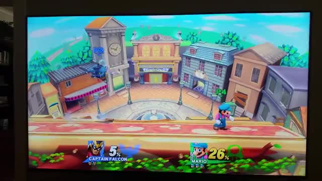 Mario double dunk on Captain Falcon