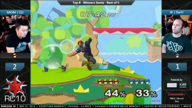 Dart shows S2J marth's air wobble to knee