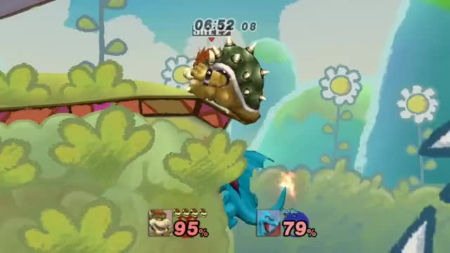 A good start to the clip hoarding for the inevitable Bowser KK downthrow kill compilation