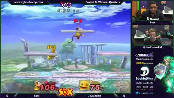 Finishing combo off of Diddy's recovery by Boss